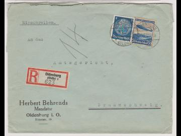 Mi. 514, 606, R-Oldenburg/Oldb., 6.8.36, AKS